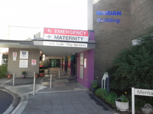 View of front entrance to Maternity at Calvary Bruce