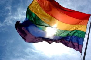 rainbow-flag-and-blue-sky