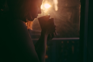 silhouette-of-woman-drinking-a-cup-of-tea